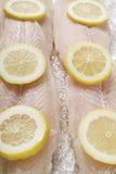 Fish fillets and lemon
