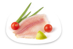 Fish fillets on a plate Stock Photography
