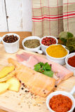 Fish fillets with spices Stock Image