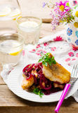 Fish Fillets in a Sweet-and-Sour Sauce Stock Images