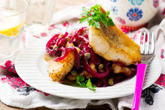 Fish Fillets in a Sweet-and-Sour Sauce Royalty Free Stock Photos