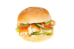 Fish finger bap Royalty Free Stock Image