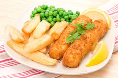 Fish finger dinner Stock Photos