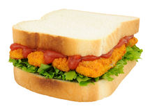 Fish Finger Sandwich Royalty Free Stock Photos