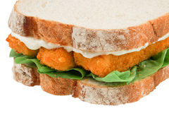 Fish Finger Sandwich isolated Royalty Free Stock Photos
