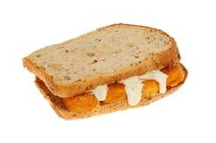 Fish finger sandwich Stock Photos