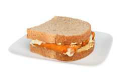 Fish finger sandwich Stock Photos