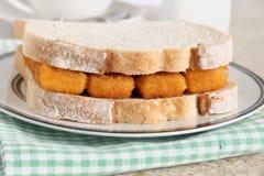 Fish Finger Sandwich. A popular British comfort food Stock Images