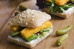 Fish finger sandwich Stock Image