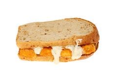 Fish finger sandwich Royalty Free Stock Photography