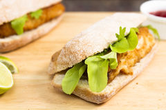Fish finger sandwiches Stock Images
