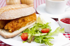 Fish finger sandwiches Royalty Free Stock Photos