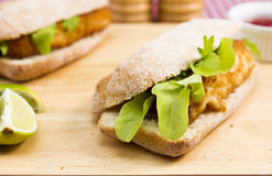 Fish finger sandwiches Stock Image