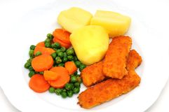 Fish fingers Royalty Free Stock Photo