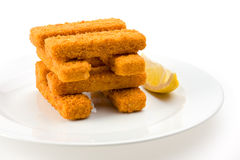 Fish fingers Royalty Free Stock Images