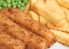 Fish Fingers & Chips royalty free stock image