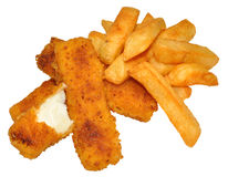 Fish Fingers And Chips Stock Image