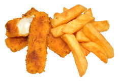Fish Fingers And Chips Stock Photo