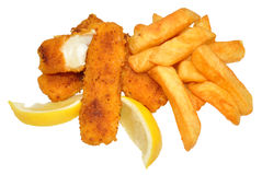 Fish Fingers And Chips Royalty Free Stock Image