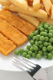Fish Fingers Chips and Peas Royalty Free Stock Photo