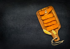 Fish Fingers with Copy Space Royalty Free Stock Images