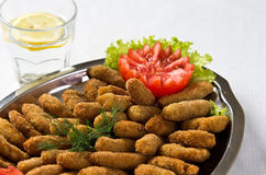 Fish fingers dish Stock Photography