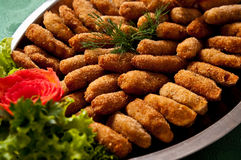 Fish fingers dish Stock Images