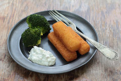 Fish fingers. Stock Images