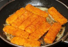 Fish fingers Royalty Free Stock Photography