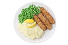 Fish Fingers & Mash Stock Image