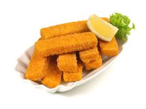Fish Fingers Plate stock photos