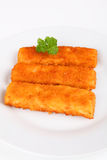 Fish fingers. On a plate Stock Images