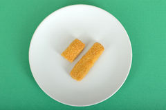 Fish Fingers on a plate Stock Photo