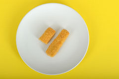 Fish Fingers on a plate Royalty Free Stock Photography