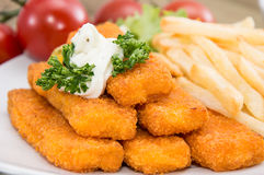 Fish Fingers with Remoulade Stock Photos