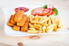 Fish fingers Royalty Free Stock Photo