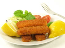 Fish fingers with vegetables,  Stock Photos