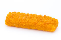 Fish fingers on the white background. Royalty Free Stock Photos