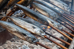 Fish on fire Royalty Free Stock Photo