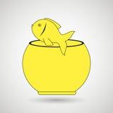 fish in fish tank design Royalty Free Stock Images