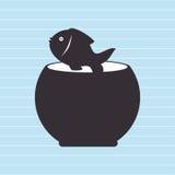 fish in fish tank design Stock Images