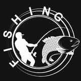 Fish and fisherman symbol for fishing. Fish and fisherman symbol for sport fishing Royalty Free Stock Images
