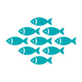 Fish, fishes icon Royalty Free Stock Image