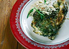 Fish Florentine. Baked Cod Fish Fillets Florentine-Style royalty free stock photos