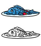 Fish food cartoon illustration Royalty Free Stock Photo