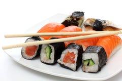 Fish food on dish Stock Image