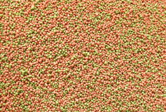 Fish food grain texture and background Stock Photos