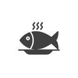 Fish food icon vector, filled flat sign. Solid pictogram isolated on white. Symbol, logo illustration. Pixel perfect vector graphics Stock Images