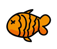 Fish food isolated icon design Royalty Free Stock Photo