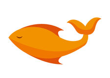 Fish food isolated icon design. Illustration  graphic Stock Images